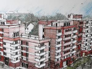 So soll die zukünftige Fassade aussehen. ©Philipp Stark, Stadt Herne