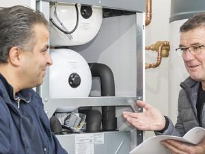 Mit einer Wärmepumpe wie hier im Sodinger Klimaviertel können Hausbesitzer effizient und umweltfreundlich heizen.