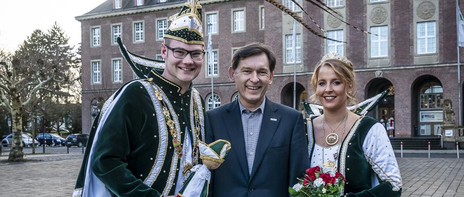 Oberbürgermeister Dudda empfängt das Prinzenpaar des Herner Karnevals 2019. ©Thomas Schmidt, Stadt Herne