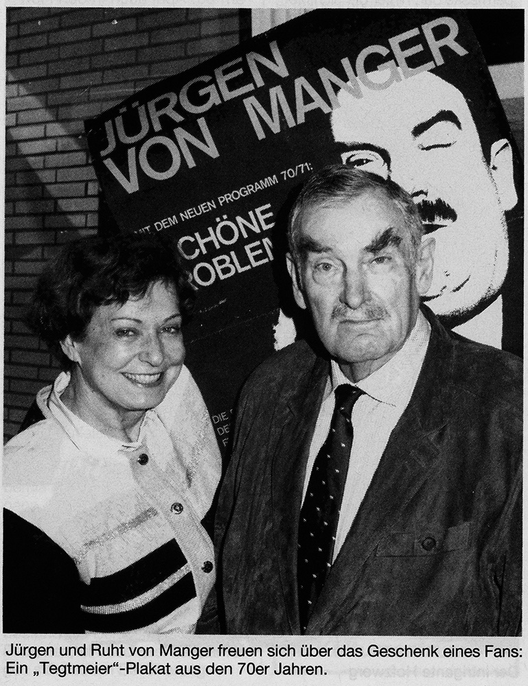 Ruth und Jürgen von Manger in ihrer Wohnung. ©Richard Kopitzko, Stadt Herne.