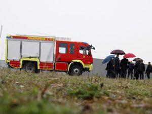 Pressekonferenz auf dem Gelände des zukünftigen Feuerwehrhauses. ©Philipp Stark, Stadt Herne