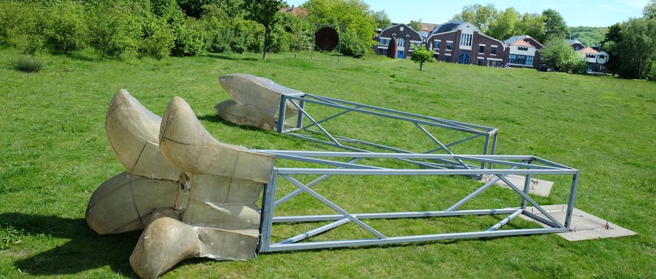 Zerstörungswut im Skulpturenpark. ©Horst Martens, Stadt Herne.
