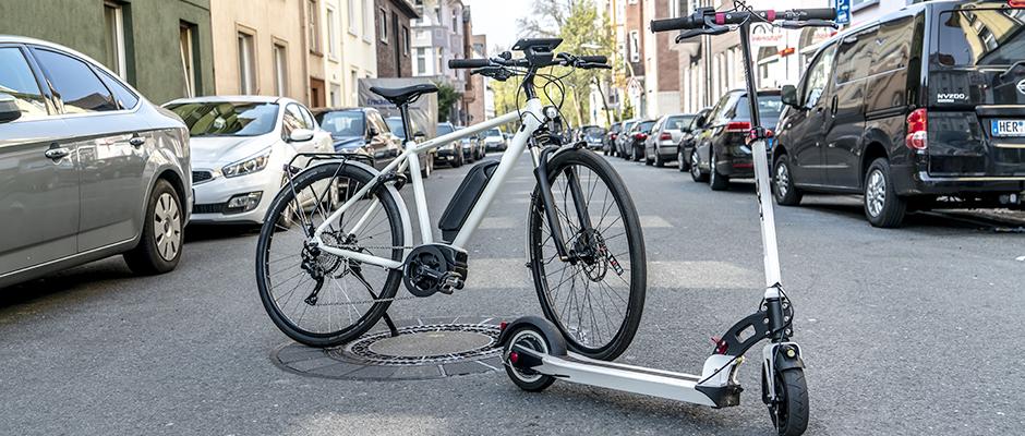 Neben dem Rad soll in Zukunft auch der Scooter das Stadtbild prägen.